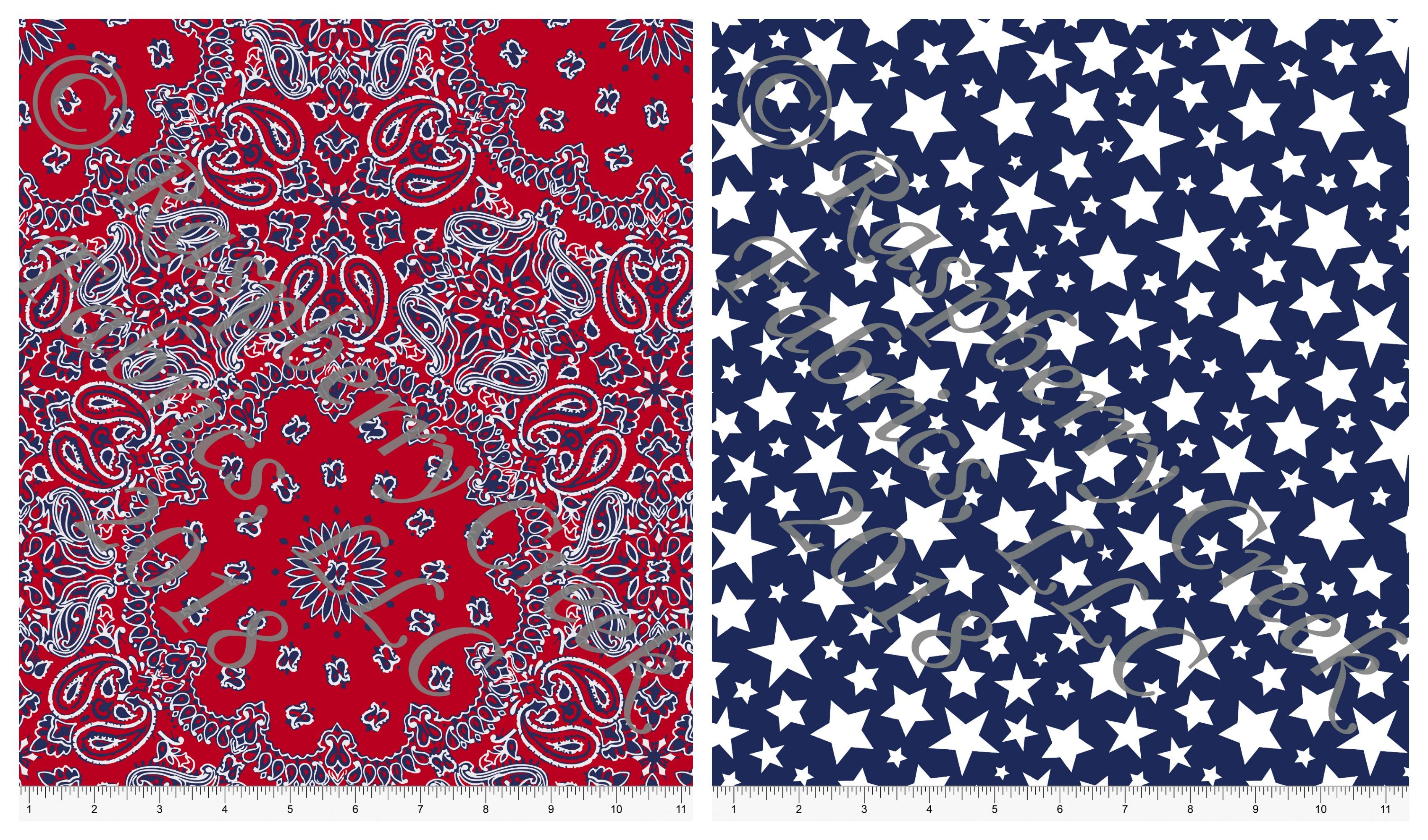 patriotic rayon collage