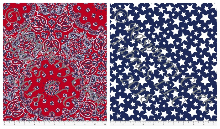 patriotic rayon collage
