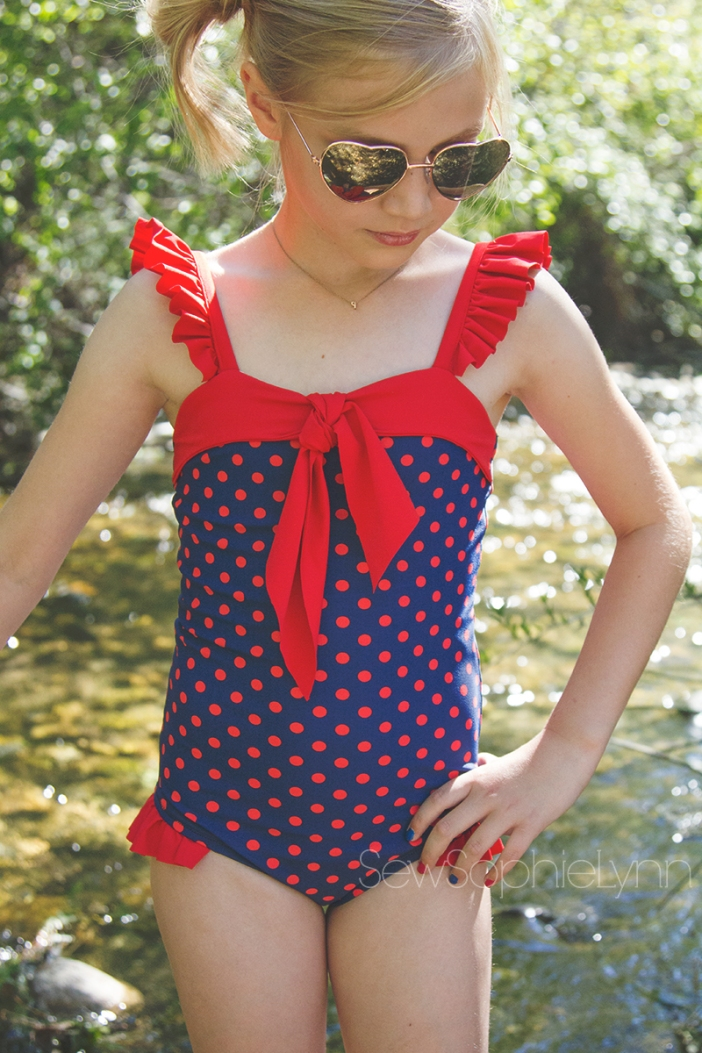 6a16d5dc8b9 I knew I had to do the new Catalina Swimsuit from Violette Fields Threads  with this fabric. It's just such a sweet throwback look and too perfect for  this ...